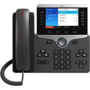 Cisco 8851 IP Phone, Wired/Wireless, Bluetooth, Desktop, Wall Mountable, Charcoal (CP-8851-3PCC-K9=)