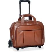 "McKleinUSA 17"" Leather Patented Detachable -Wheeled Laptop Briefcase (80714)"