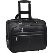 """McKleinUSA 17"""" Leather Wheeled Laptop Briefcase (80505)"""