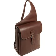 "Siamod 14"" Leather Vertical Messenger Bag (25414)"