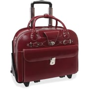 "McKleinUSA 15.4"" Leather Fly-Through™ Checkpoint-Friendly Patented Detachable -Wheeled Ladies' Laptop Briefcase (96646)"