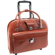 """McKleinUSA 15.4"""" Leather Wheeled Ladies' Laptop Briefcase (96314)"""