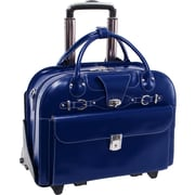 """McKleinUSA 15.4"""" Leather Fly-Through™ Checkpoint-Friendly Patented Detachable -Wheeled Ladies' Laptop Briefcase (96647)"""
