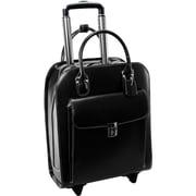 """McKleinUSA 15.4"""" Leather Vertical Wheeled Ladies' Laptop Briefcase (97695)"""