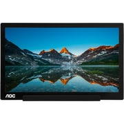 "AOC I1601FWUX 15.6"" IPS Display Portable Monitor,  Black/Silver"