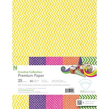 Neenah® - Papier spécialisé d'été de la Creative Collection™, 8,5 po x 11 po, 24 lb, chevrons et points, 5 couleurs, paq./25 (99