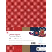 "Neenah® Creative Collection™ Summer Specialty Paper, 8.5"" x 11"", 24 lb., Red Brown and Blue 3-Color Assortment, 25/Pack (99403)"