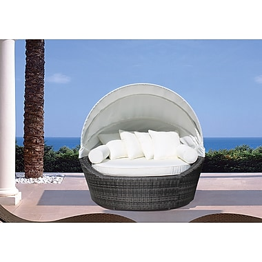 Velago Sogno Outdoor Canopy Loveseat Covered Daybed Synthetic Wicker 4243
