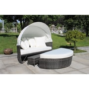Velago SOGNO LUX Outdoor Canopy Daybed, Convertible Wicker Sofa Set (4244)