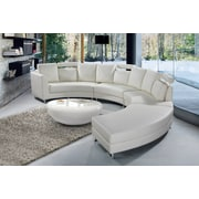 Velago ROSSINI Leather sofa, Genuine leather suite, White (2903)
