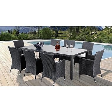 Beliani – Ensemble extérieur de salle à manger ITALY 220, table et 8 chaises en poly rotin