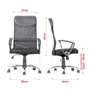 Moustache® Ergonomic Adjustable High-Back Mesh Office Chair, Black (MOFC-H-935L-2)