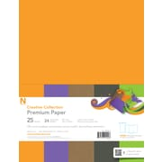 "Neenah® Creative Collection™ Specialty Paper, 8.5"" x 11"", 24 lb.,""Fall"" 5-Color Assortment, 25/Pack (99404)"