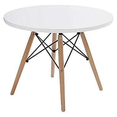 Plata Import – Table pour enfants Eiffel, dessus blanc (GT-086W)
