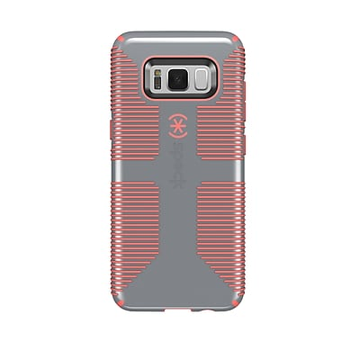 Speck – Coque CandyShell Grip pour Samsung Galaxy S8, gris/orange (90211-B994)