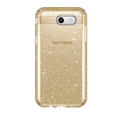 Speck Presidio For Use With Samsung J3 Prime, Clear/Gold Gitter (89004-5636)