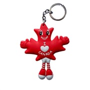 MapleBabes Rubber KeyChain, Red, 6/Pack (MBRKCR)
