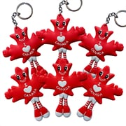 MapleBabes Keychain/Fridge Magnet Combo, Red