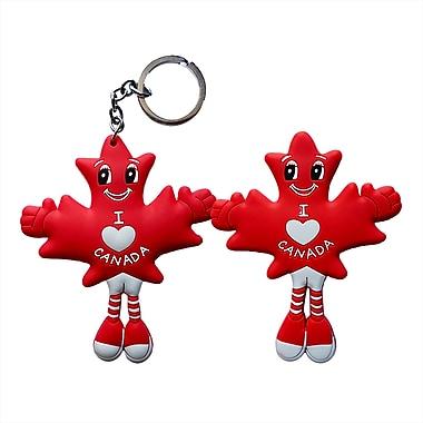 MapleBabes - Porte-clés/Décoration aimantée pour réfrigérateur, rouge, paq./12 (MBKFC12)