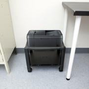 Mind Reader  2 Shelf Mobile Printer Cart with Cable Management, Black (PRCARTSM-BLK)