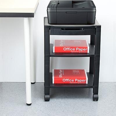 Mind Reader 'Classify' 3 Shelf Mobile Printer Cart, Black (PRCART-BLK)