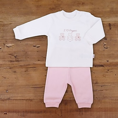 Kitikate Top & Pant Set, 3-6 Months, White/Pink