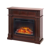 "Napoleon Bailey 24"" Electric Fireplace with Mantel Package & Corner Piece, Espresso Walnut (NEFCP24-0116E)"