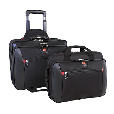 Swiss Gear – Mallette d'affaires de luxe 2-en-1 avec mallette amovible, noir, (SWA0990)