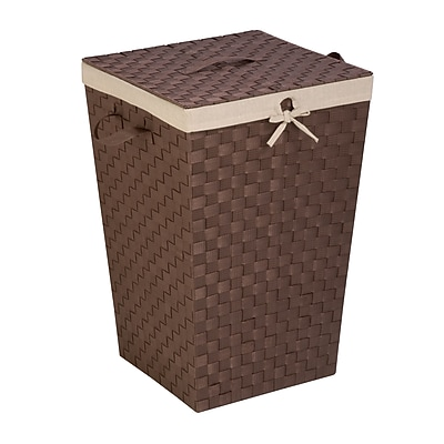 Honey Can Do Decorative Woven Hamper with Lid, Java Brown (HMP-02980)