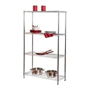 Honey Can Do 4-Tier Commercial Grade Adjustable Storage Shelves, Chrome (SHF-01456)