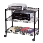 Honey Can Do3-Shelf Portable Multimedia Cart, Black(CRT-04050)