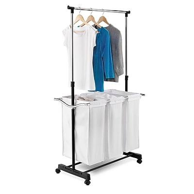 Honey Can Do Rolling Laundry Cart with Hanging Bar (SRT-01237)