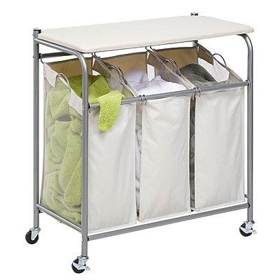 Honey Can Do Rolling Laundry Sorter with Ironing Board (SRT-01196)