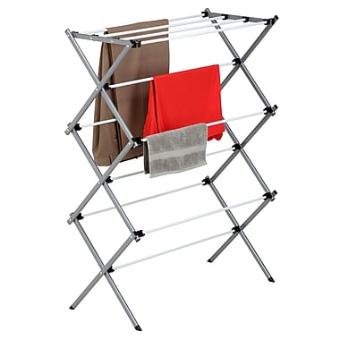 Honey Can Do Large Folding Drying Rack, Silver/White (DRY-01306)