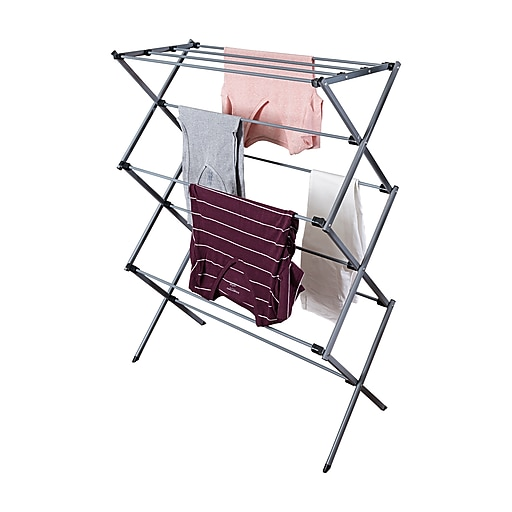 grips drying racks store good dryer accessories container the oxo laundry x folding s rack sweater