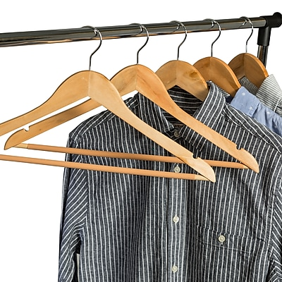 Honey Can Do No Slip Wooden Coat Hangers, Maple Wood (24 Pack) (HNG-01334)