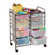 Honey Can Do Rolling Storage Cart and Organizer with 12 Plastic Drawers (CRT-01683)