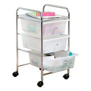 Honey Can Do 3 Drawer Plastic Storage Cart On Wheels (CRT 02215)