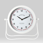 White Perun Iron Table Clock (9044-AM5589-CK)