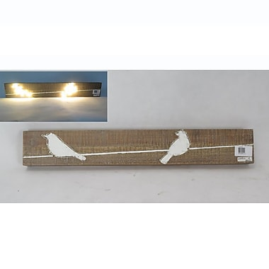 2 White Birds Wall Plaque With LED (7603-AM6194-00)