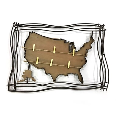 Map Wall Decor With Photo Holder (9277-AM6596-00)