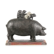 CJ Marketing Mother Pig With 4 Baby Pig Table Decor (6821-AM6076-00)