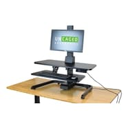 Uncaged Ergonomics Electric Adjustable Height Standing Desk Riser with VESA Monitor mount, Black (ESDC-B)