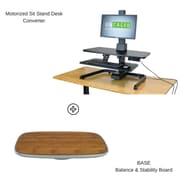Uncaged Ergonomics Motorized Standing Desk Converter with BASE Balance & Stability Board (ESDCBASE)