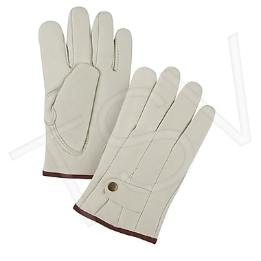 Zenith Safety Grain Cowhide Ropers Unlined Gloves, Premium Quality, Large