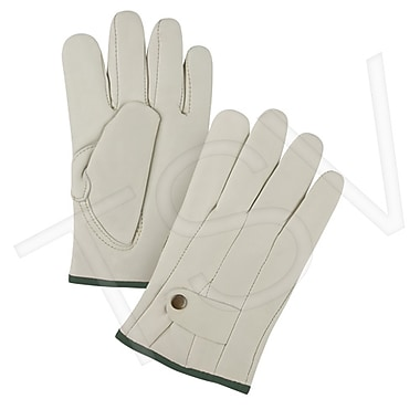 Zenith Safety Grain Cowhide Ropers Fleece Lined Gloves, Premium Quality, Medium