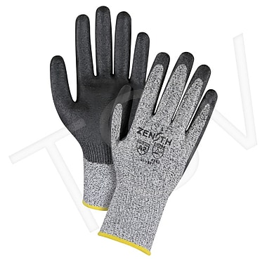 Zenith Safety HPPE Polyurethane-Coated Gloves, Large (9), Gauge - 13