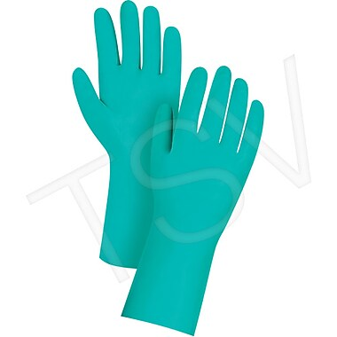 Zenith Safety Unlined 11 Mil Green Nitrile Gloves, 2X-Large (11), Length - 13