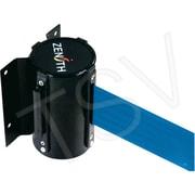 Zenith Safety Wall Mount Barrier, Steel, Black, Blue, 7'