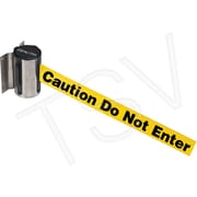 """Zenith Safety Wall Mount Barrier, Stainless Steel, Screw Mount, """"Caution Do Not Enter"""""""